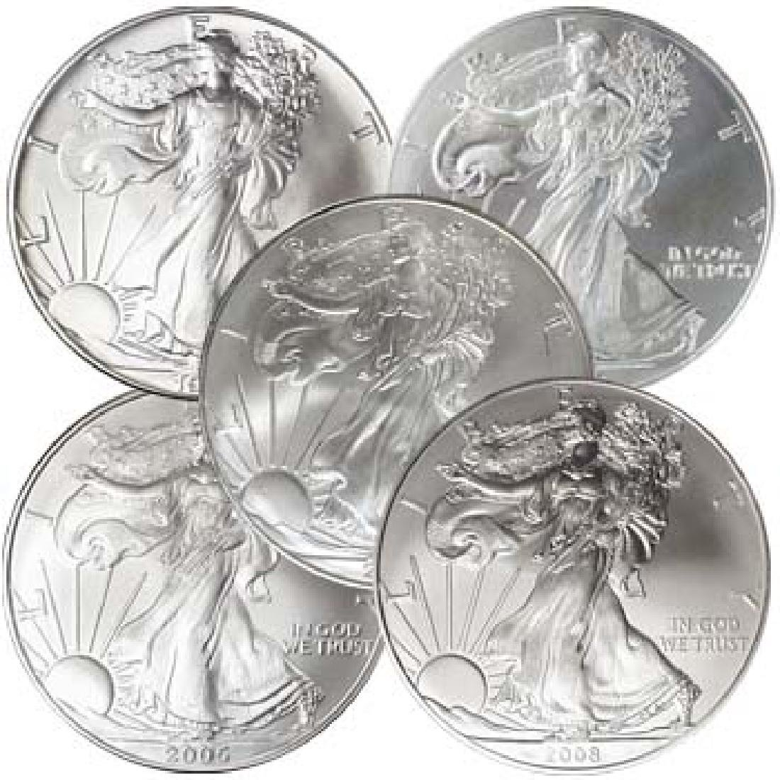 1-oz. Silver Eagle 5 Bullion Coins, BU