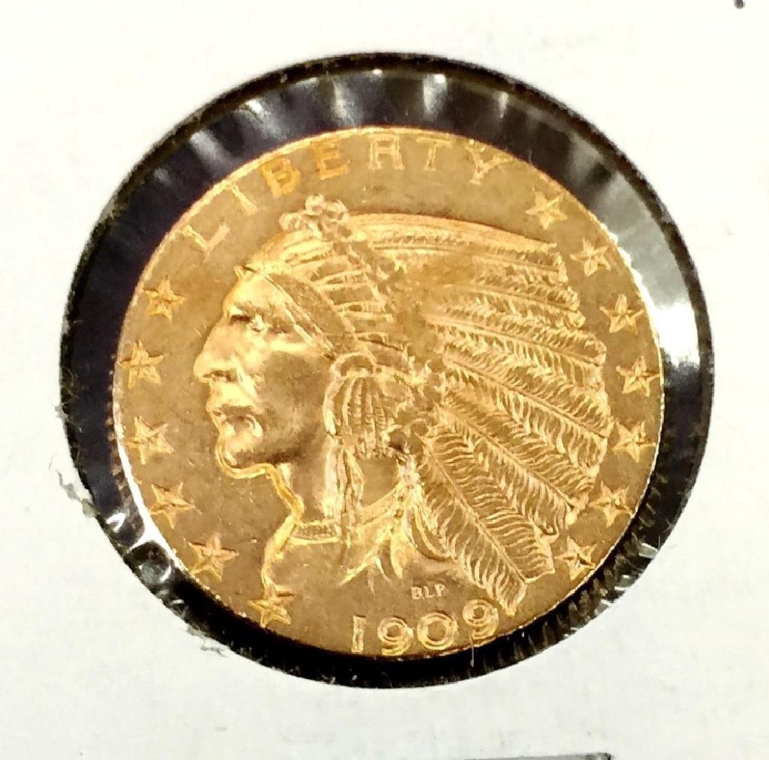 1909 D $ 5 Gold Indian