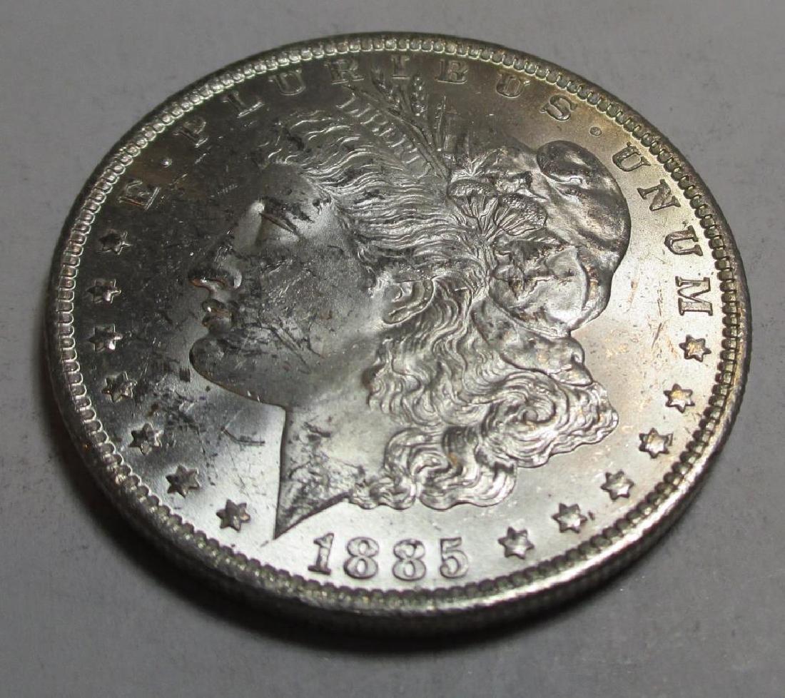1885 o CH BU Morgan Silver Dollar