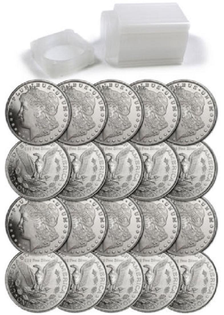 (20) Morgan Design Silver Rounds 1 oz Each