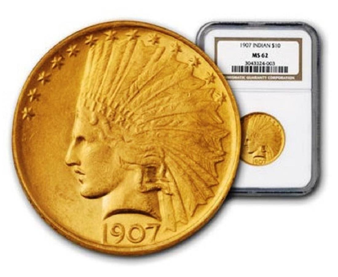 1907 $ 10 Gold Indian PCGS or NGC MS 62
