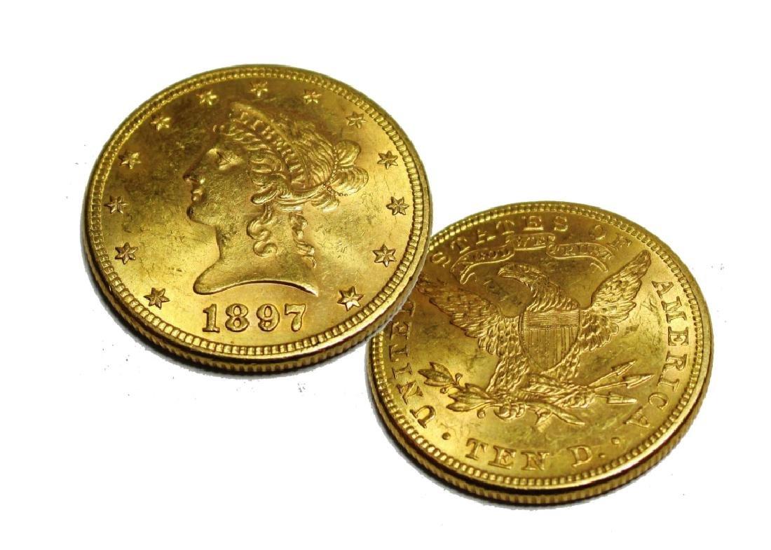 1897 P $10 Gold Liberty Eagle