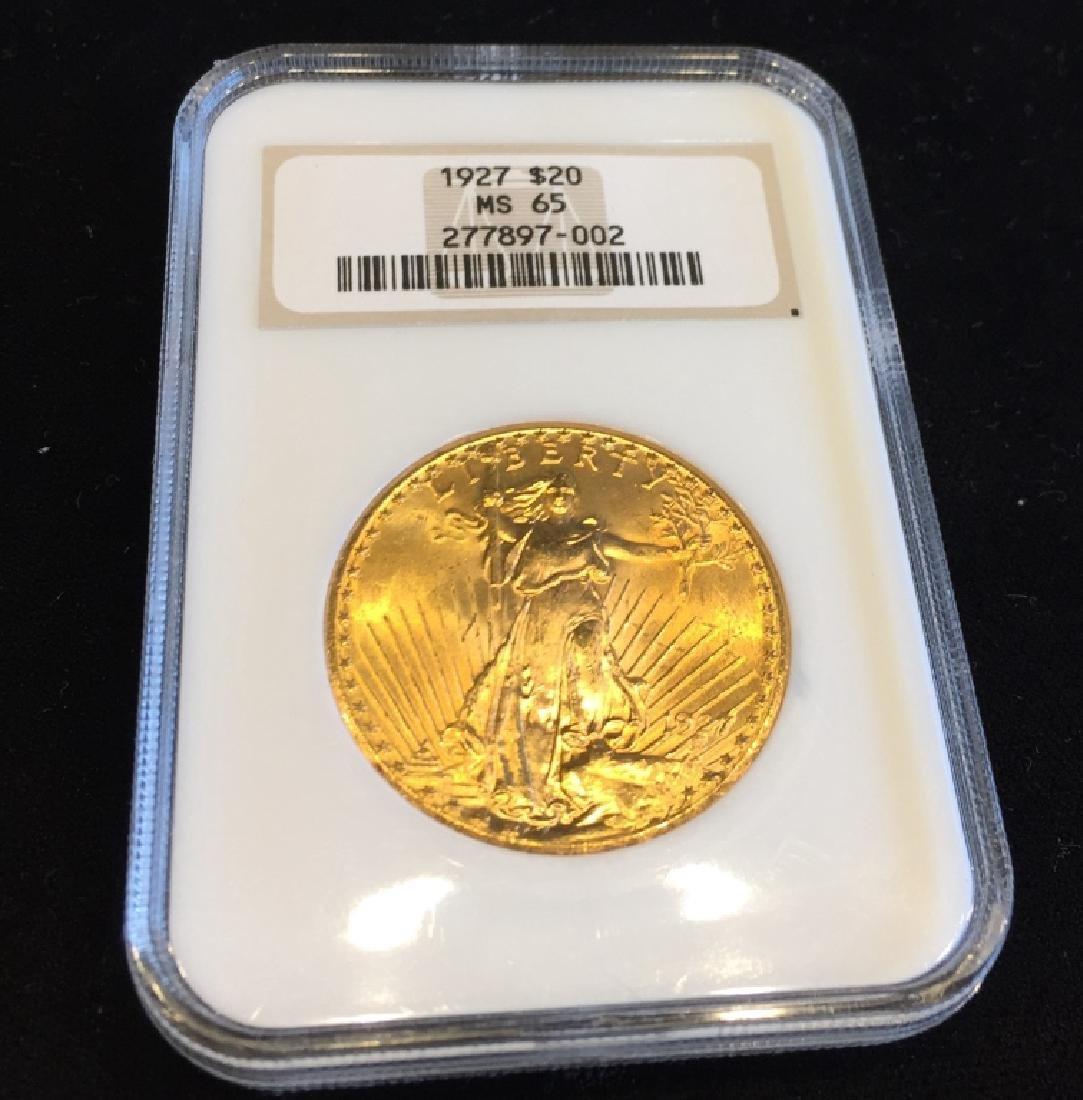 1927 MS 65 NGC $20 Gold Saint Gauden Double Eagle