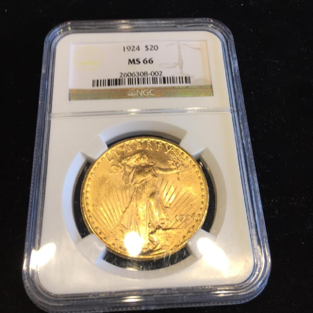1924 MS 66 NGC $ 20 Gold Sain Gaudens Double Eagle