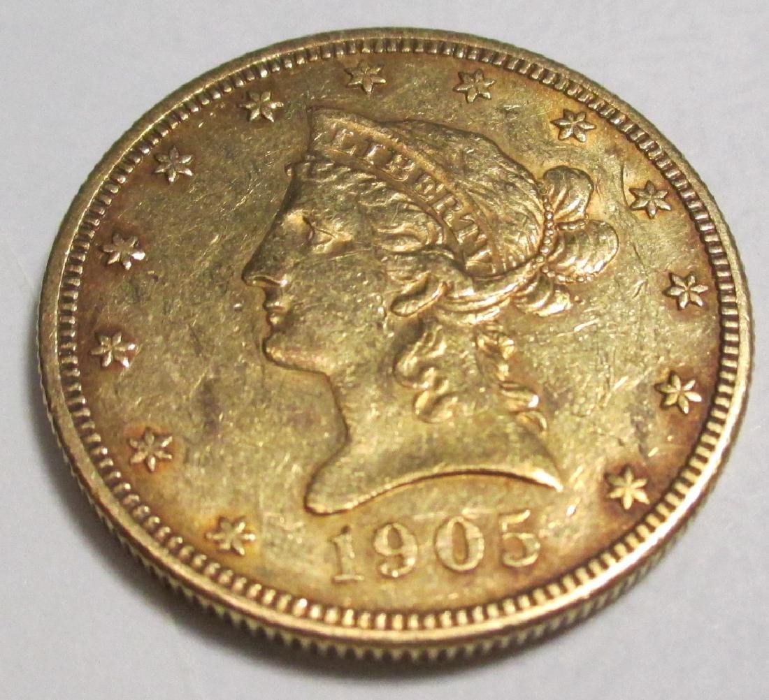 1905 S $10 Gold Liberty Eagle