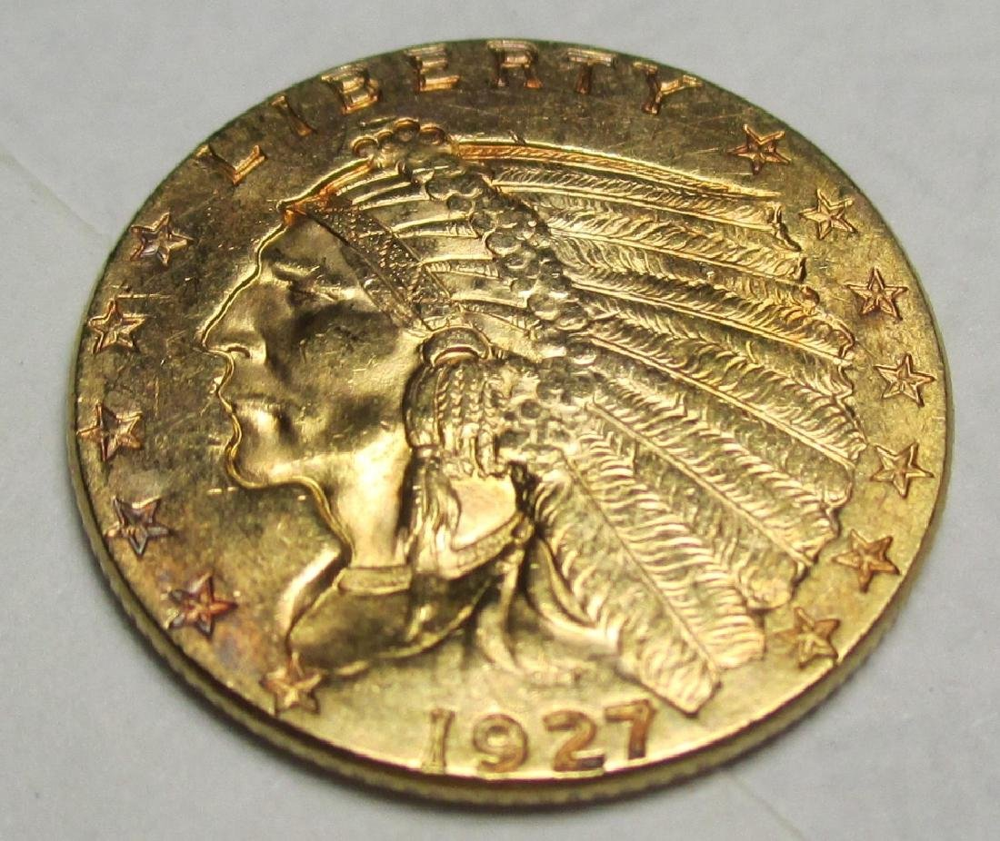 1927 $2.5 Gold Indian Quarter Eagle