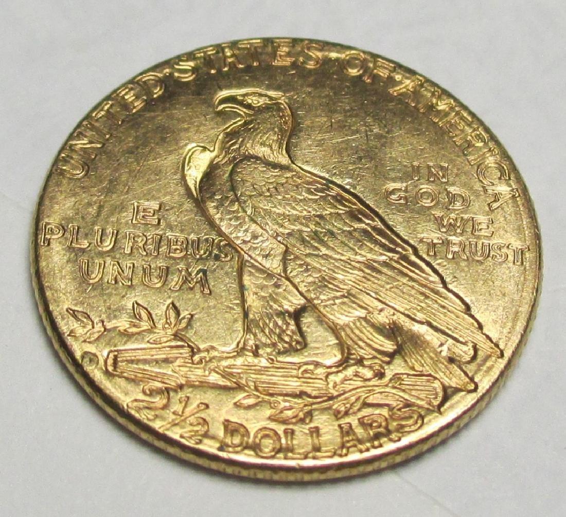 1914 D $2.5 Gold Indian Quarter Eagle - 2