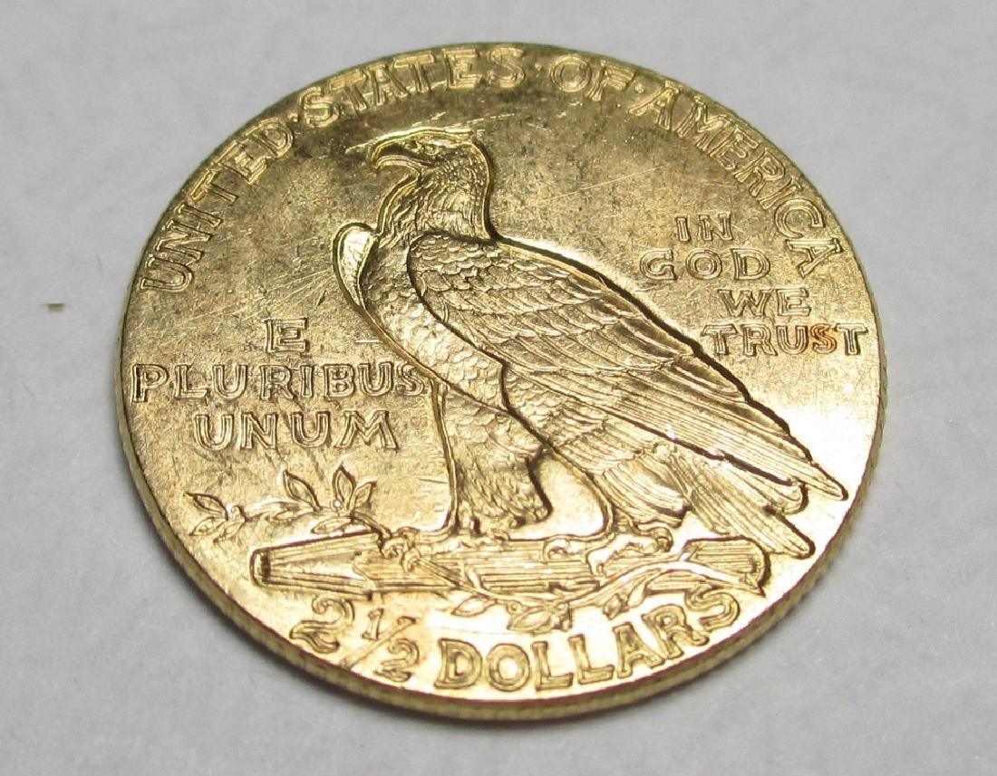 1927 Better Grade $2.5 Gold Indian Quarter Eagle - 2