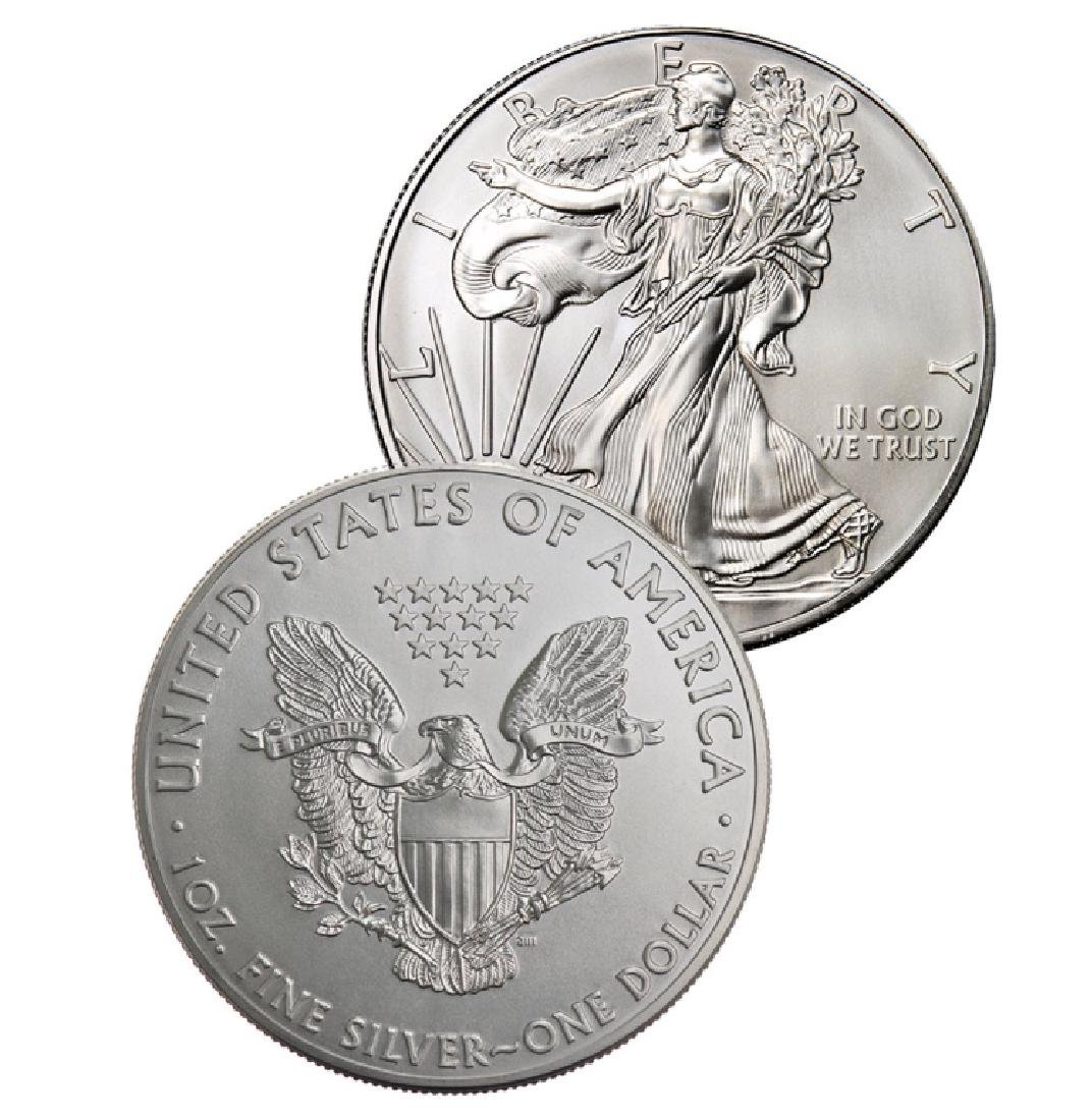 (2) Random Date US Silver Eagles