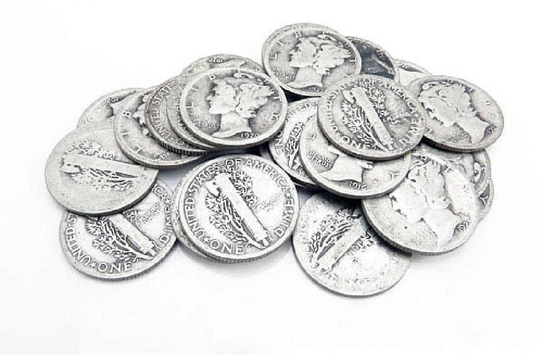 (20) Mercury Dimes- Random Dates - 90% Silver