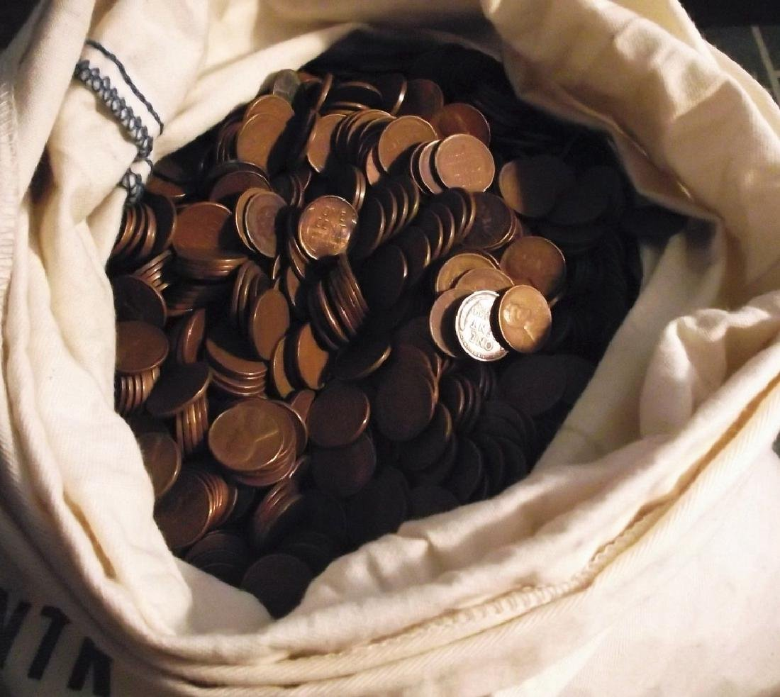 Bag of 5000 Wheat Cents -