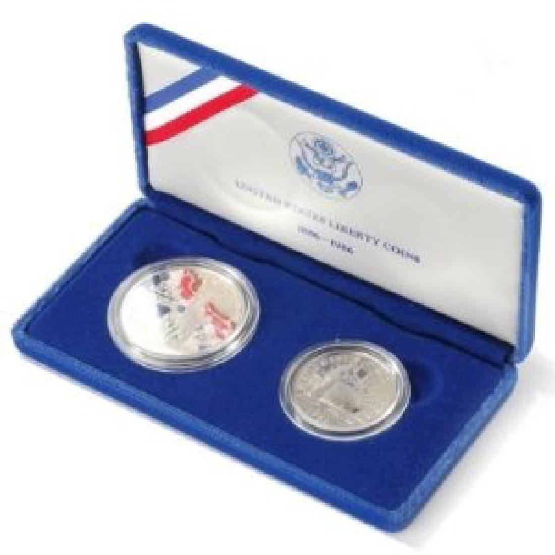 1986 Statue of Liberty 2 Coin Set Proof