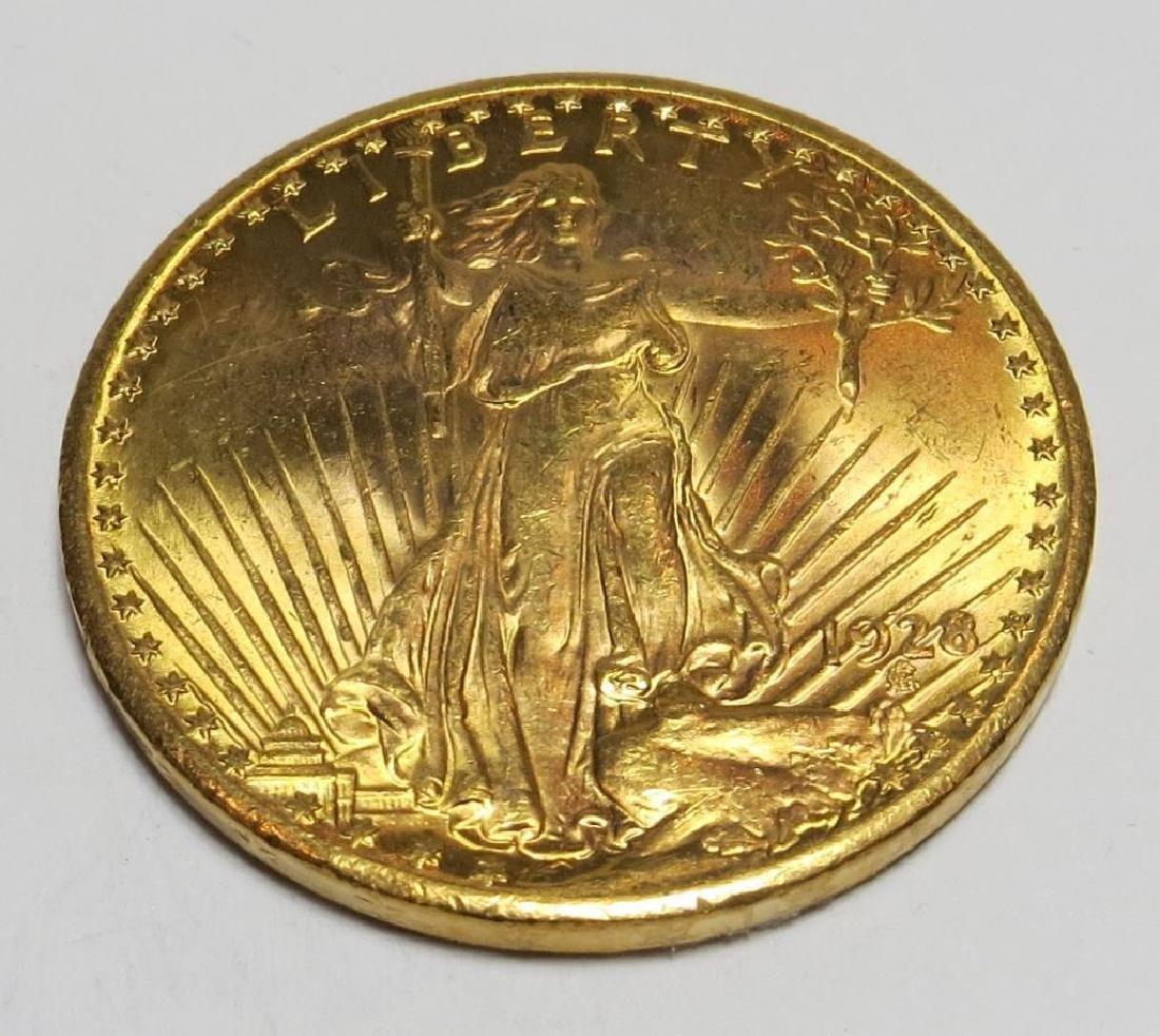 1928 $20 Gold Saint Gauden Double Eagle