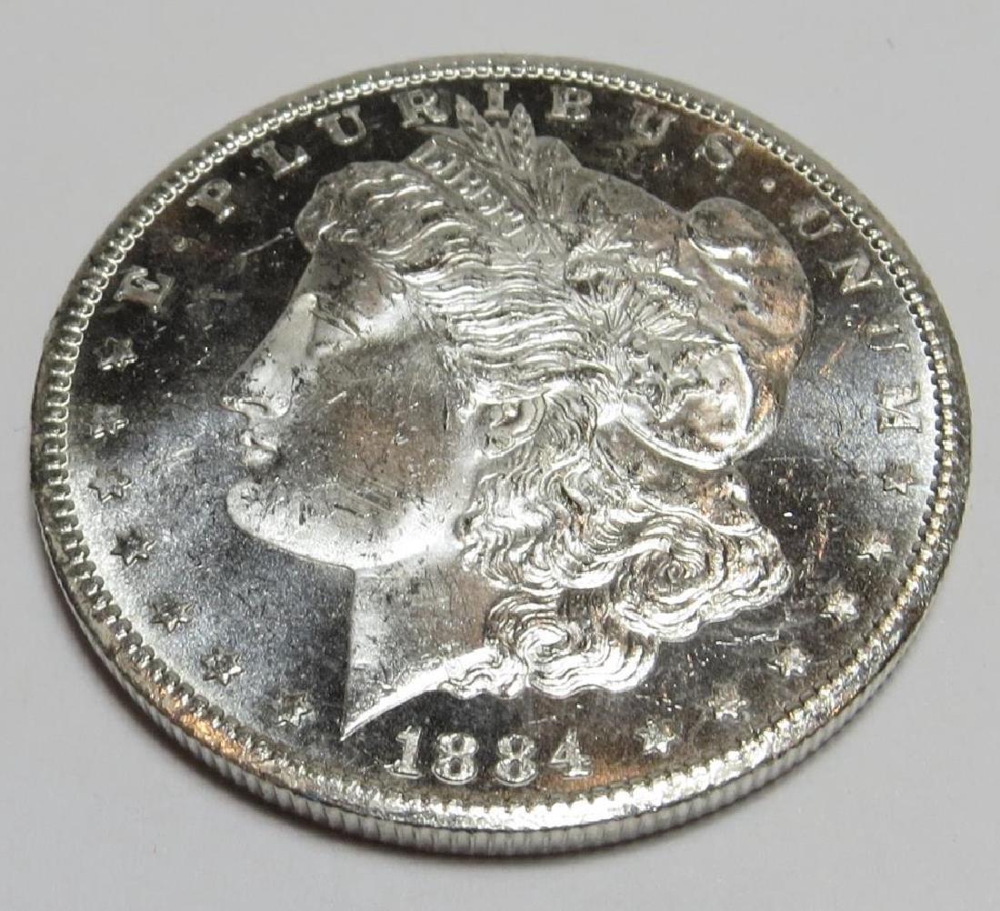 1884 Carson City Key Date Morgan Dollar BU Plus