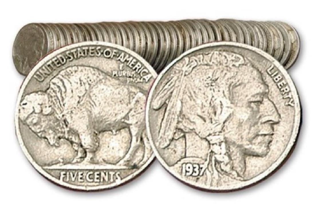 (40) Buffalo Nickels - Full Date