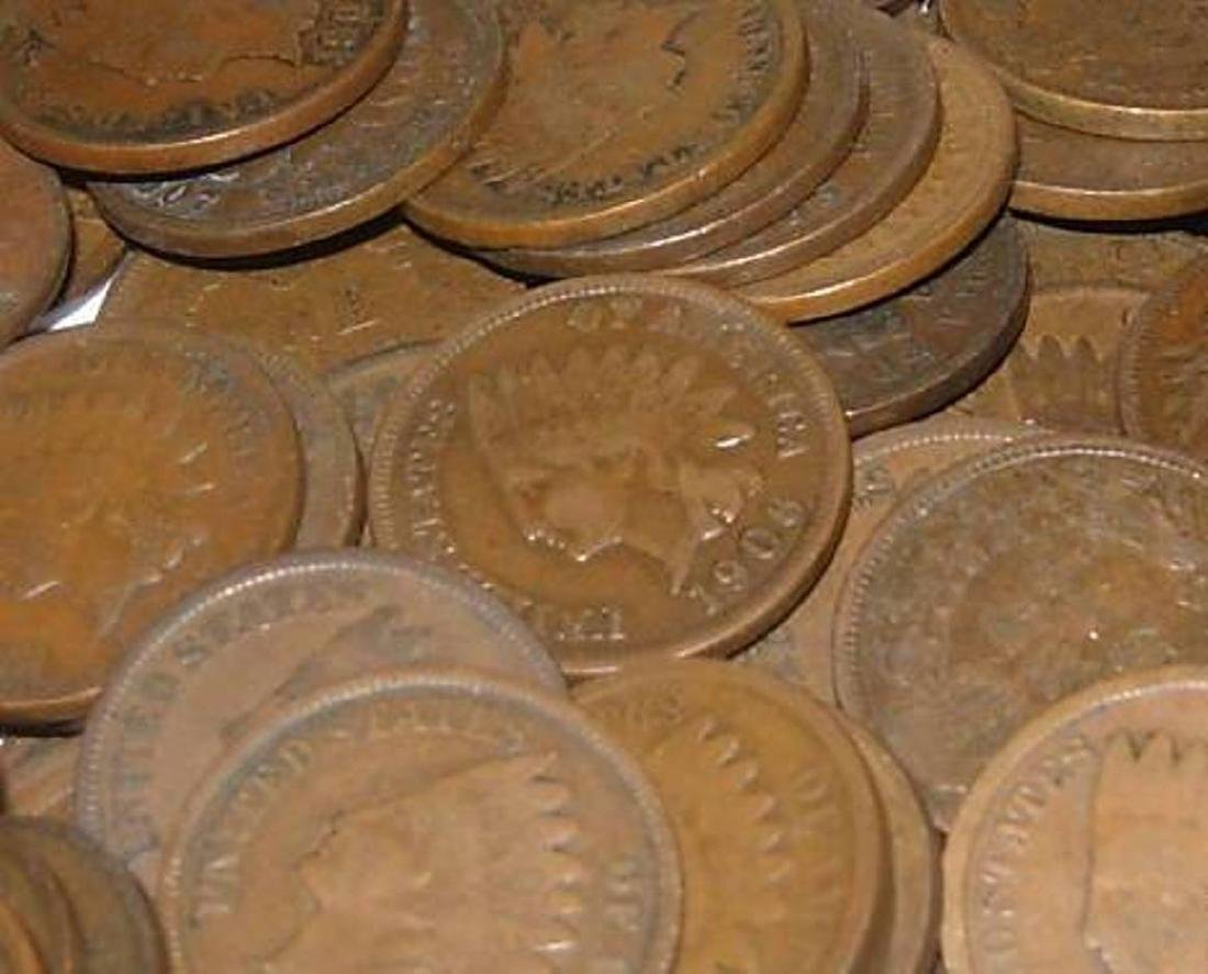 Lot of 50 Indian Head Pennies-ag-xf
