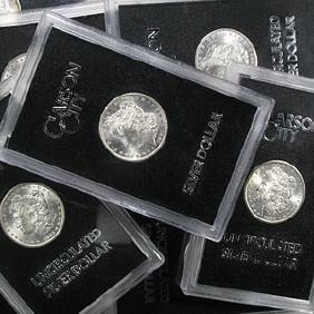 "1880-1885 ""CC"" Morgan Dollar Set (6 coins), GSA"