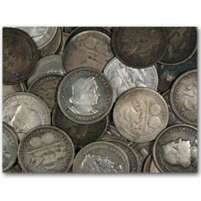 Lot of (10) Columbian Expo Half Dollars