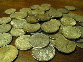 Single Peace Dollar from Larger Cache