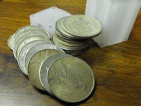 Lot of (20) Peace Silver Dollars