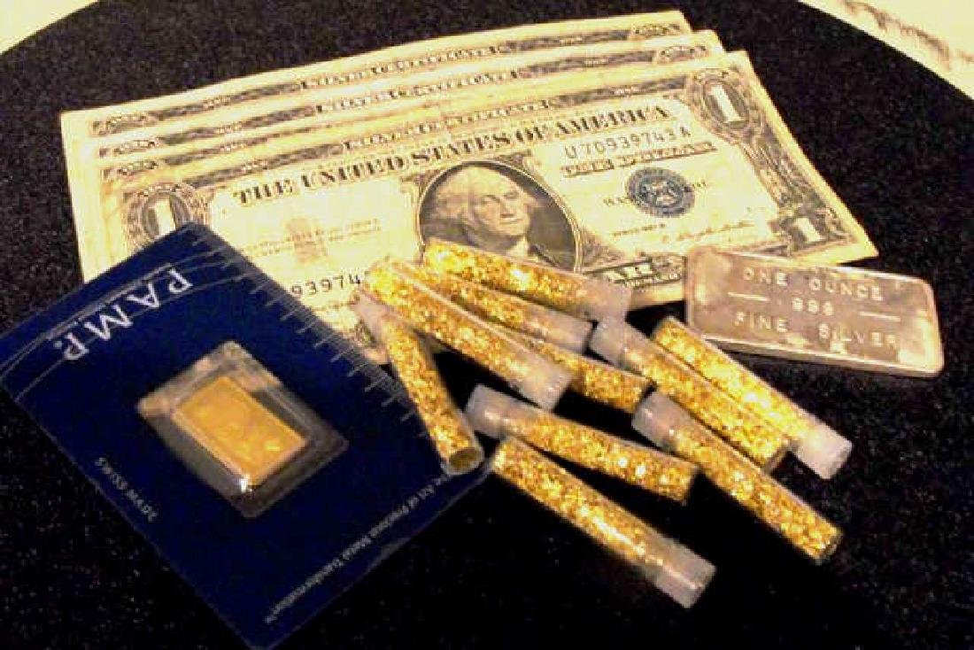 Gold-Silver-Currency Lot - As Shown