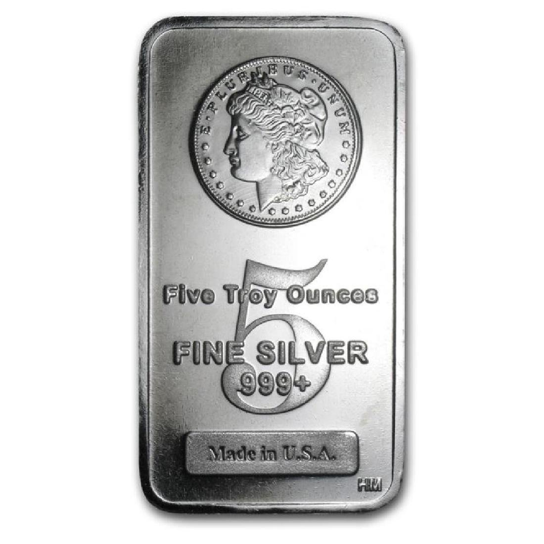 Pure Silver 5 oz Bar Morgan Design