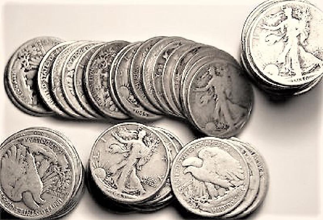 (20) Walking Liberty Haflf Dollars-90% Silver