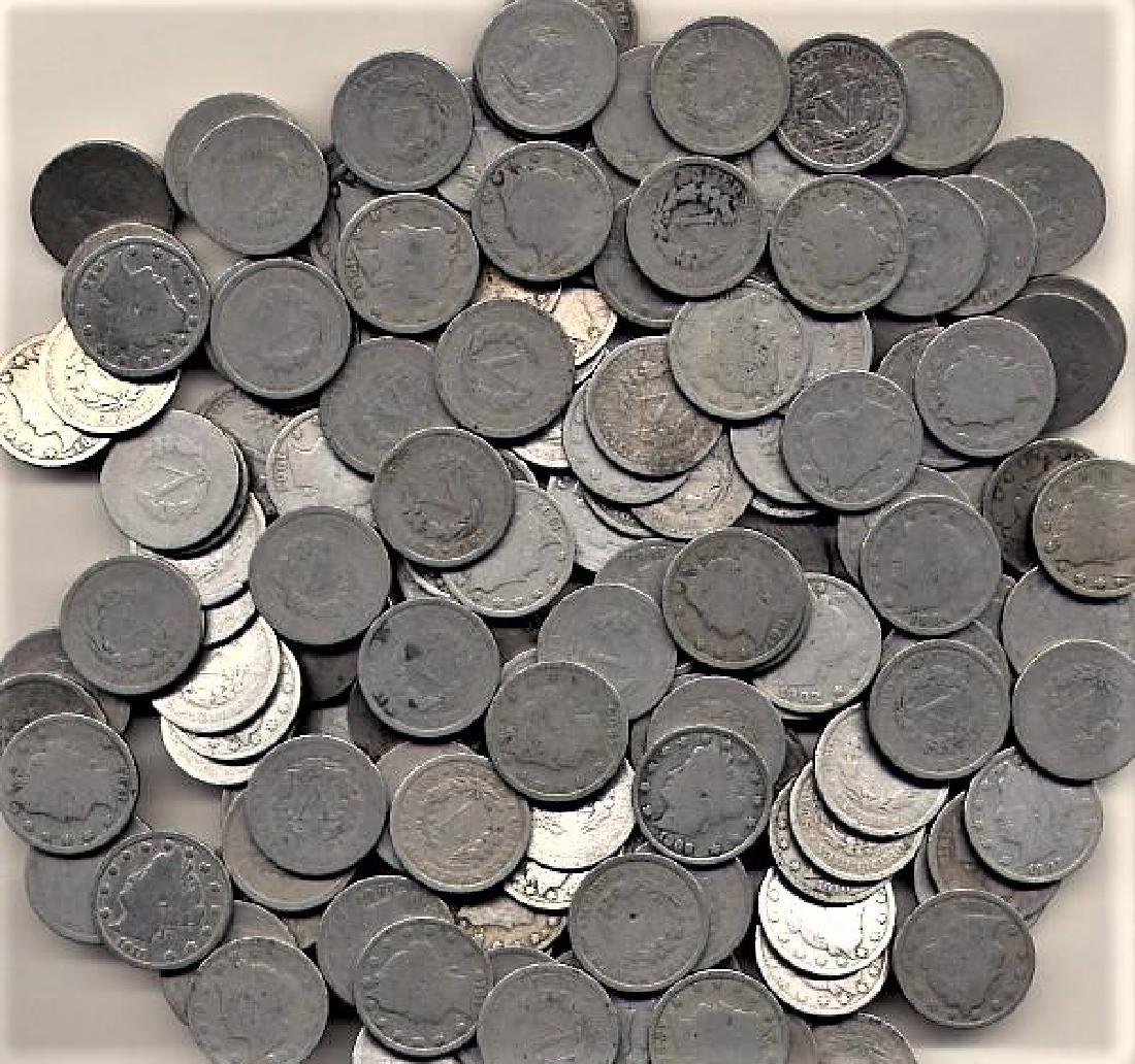 100 V Nickels - Mixed Date and Grades