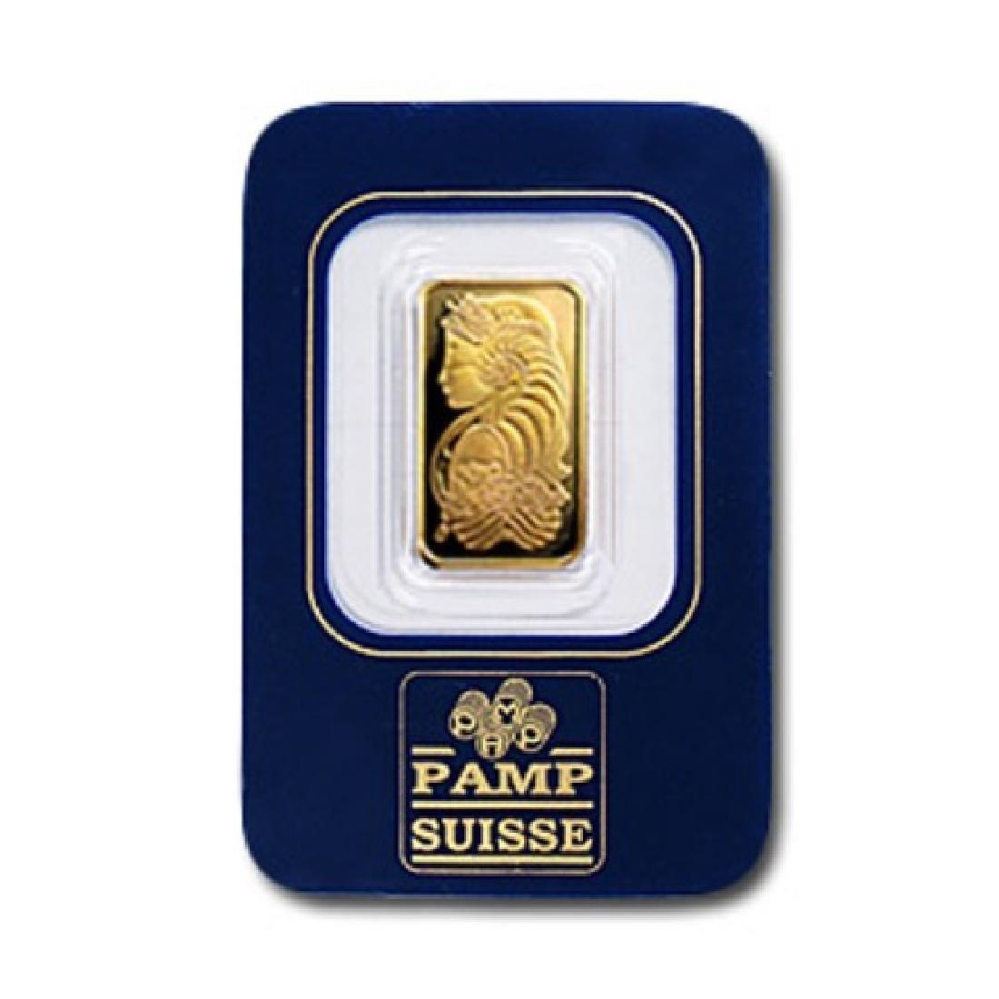 2.5 Gram Pamp Suisse Gold Ingot on Assay Card