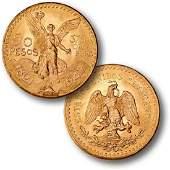 1947 Gold 50 Mexican Peso Over 1 oz. Gold!