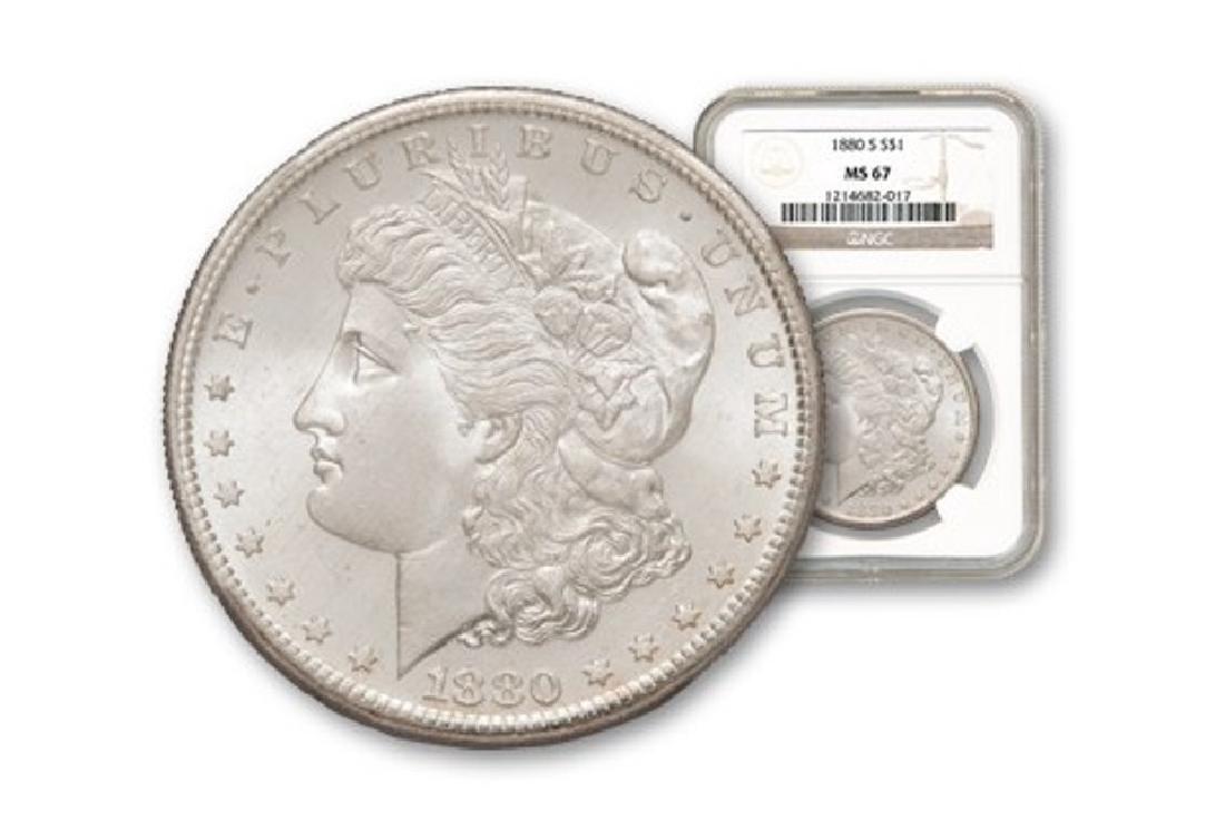1880 s MS 67 NGC Morgan Silver Dollar