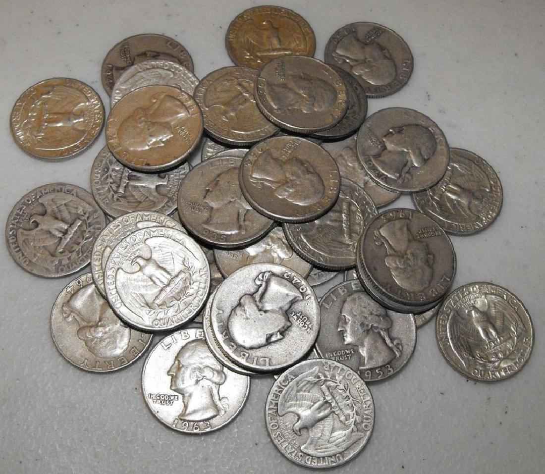 (40) Washington Quarters 90% Silver