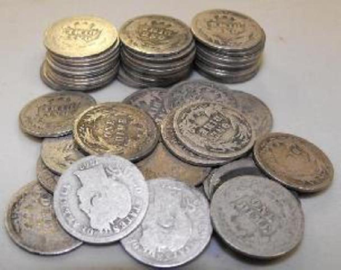 (50) Barber Dimes - 90% Silver - Rare Items