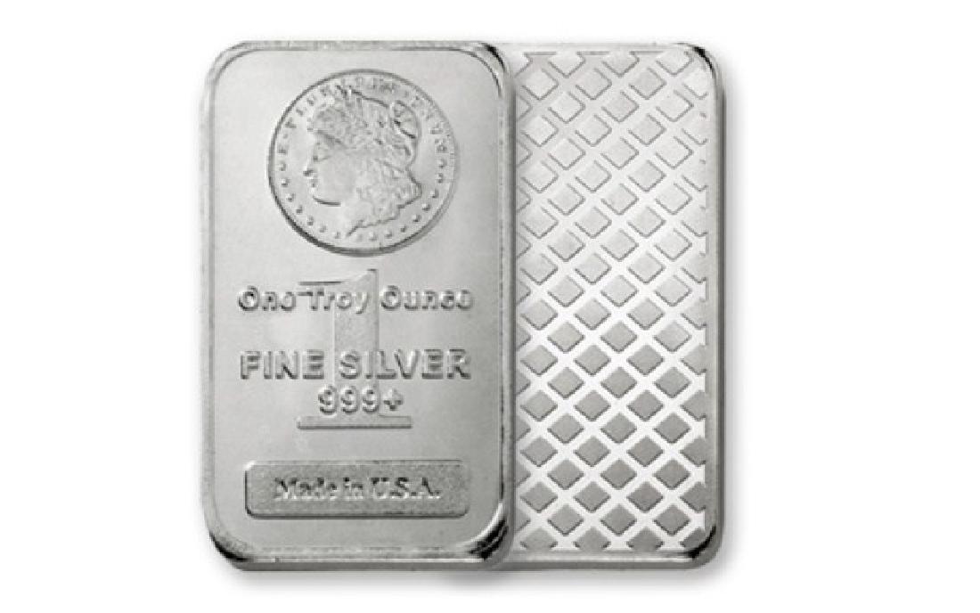 1 oz. Morgan Design Silber Bar