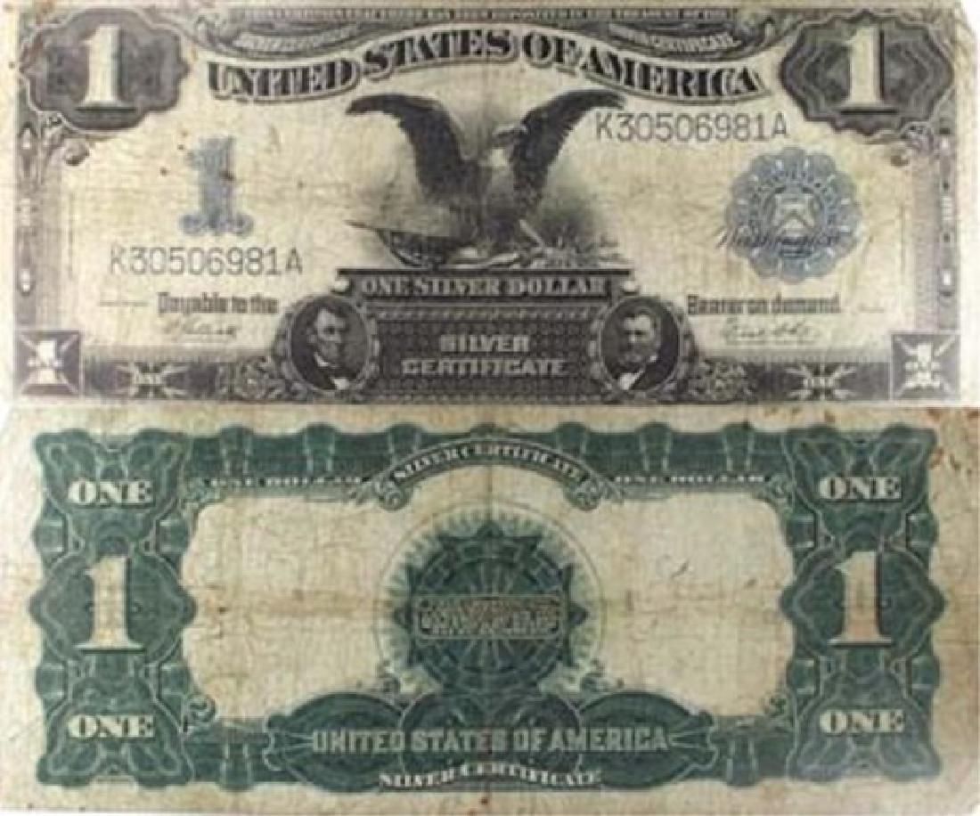 "1899 US Silver ""BLACK EAGLE"" Certificate -G-VG"