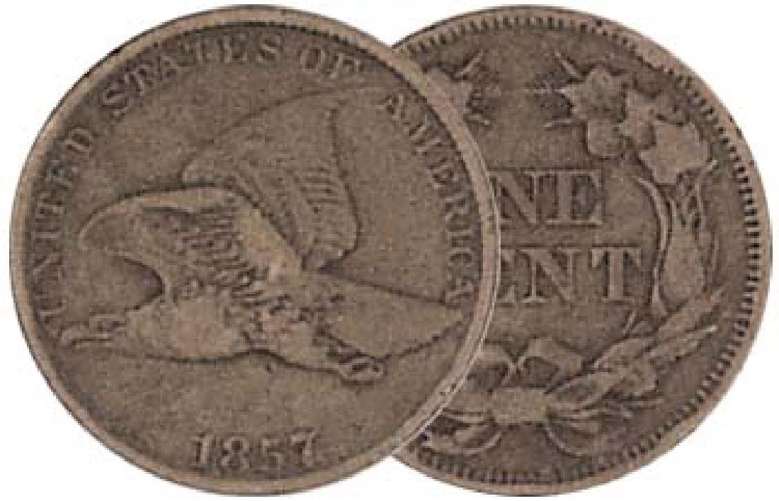 1857 Flying Eagle US One Cent