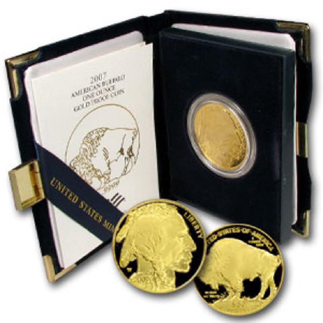 2007 GEM PROOF 1 oz Gold Buffalo
