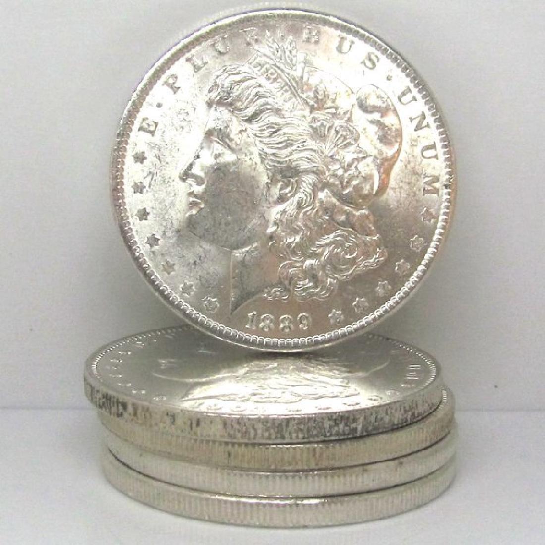 (5) Pre 1900 BU Morgan Silver Dollars