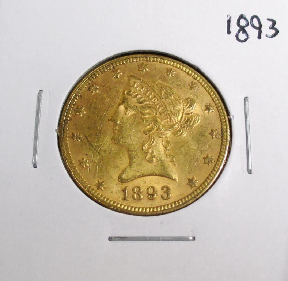 1893 $ 10 Gold Liberty Eagle