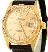 Mens Rolex 18K Gold DayDate President Champagne 1807