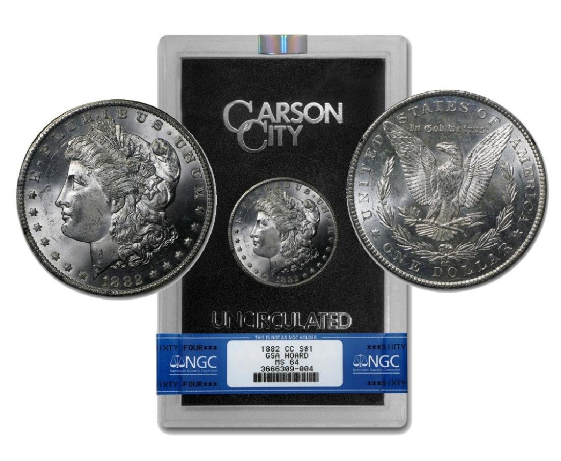 1882-CC Morgan Dollar GSA MS-64 NGC