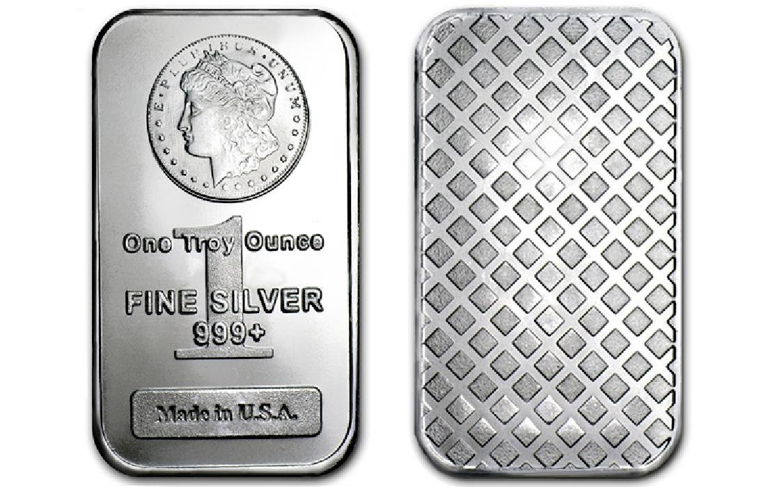 1 oz Morgan Design Silver Bar - .999 Silver