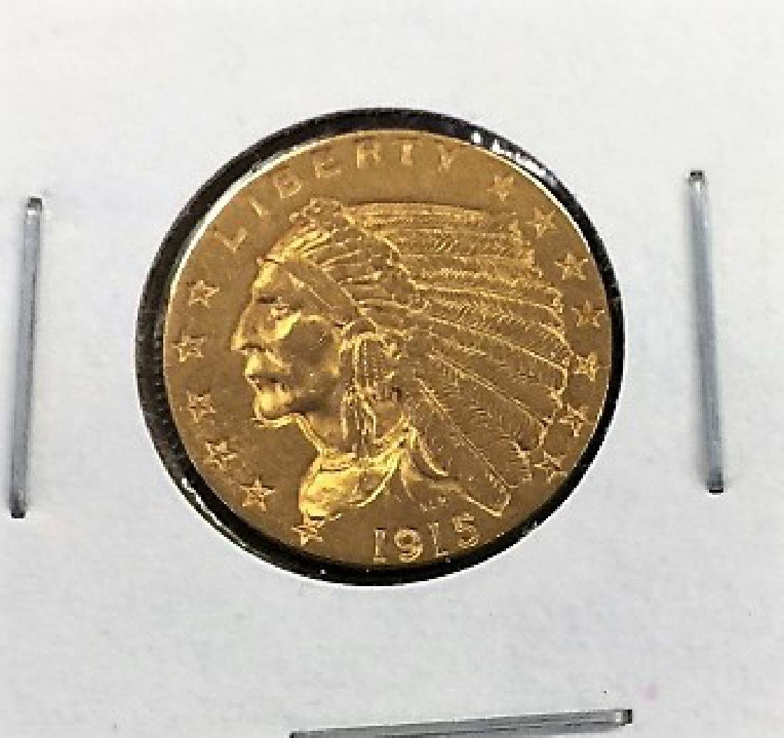1915 $2.5 Gold Indian