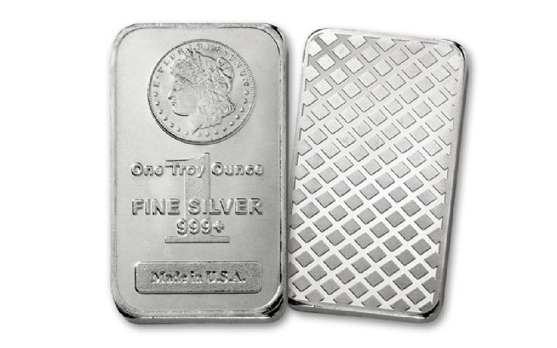 1 oz. Morgan Design Silver Bar