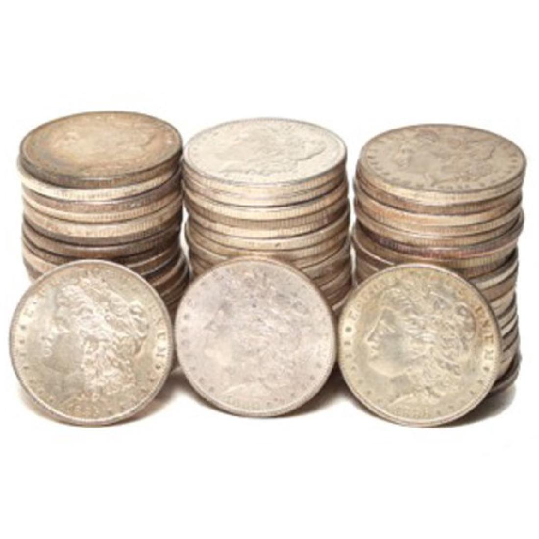 (60) Random Date XF-AU Grade Morgan Dollars