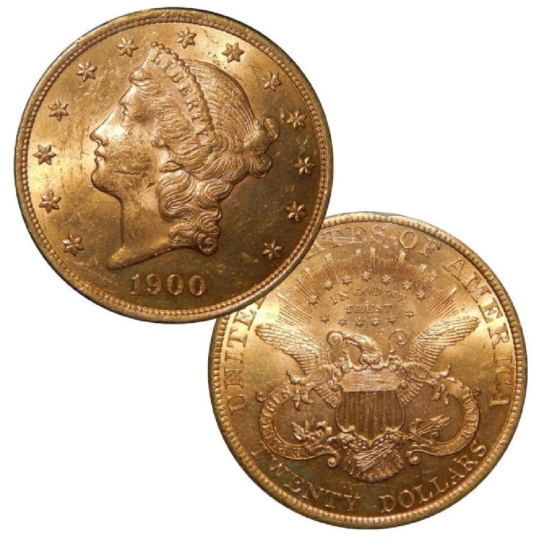 1900 $ 20 Gold Liberty Double Eagle