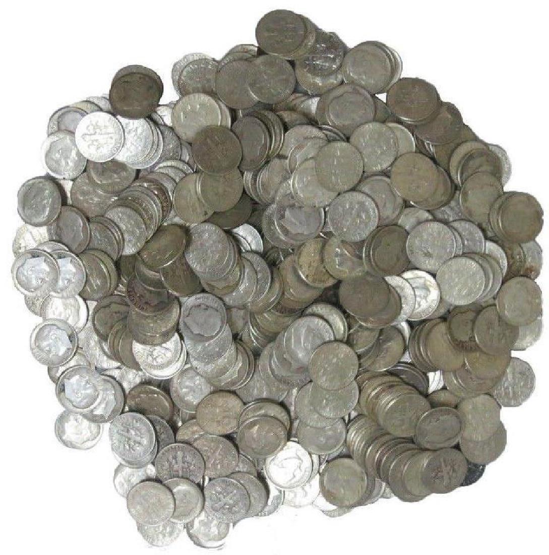 (200pcs) $20 Face Value-90% Silver Roosevelt Dimes