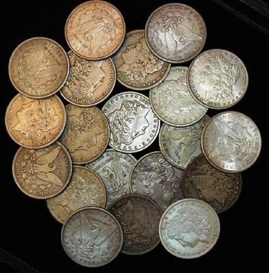 Lot of (20) Morgan Silver Dollars-F-XF
