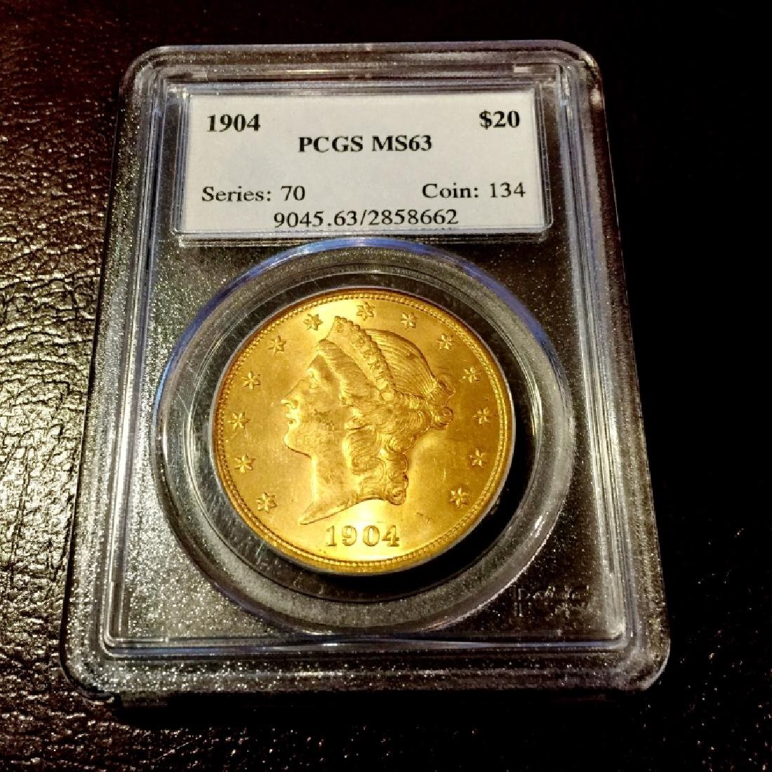 1904 $ 20 Gold Liberty MS 63 PCGS