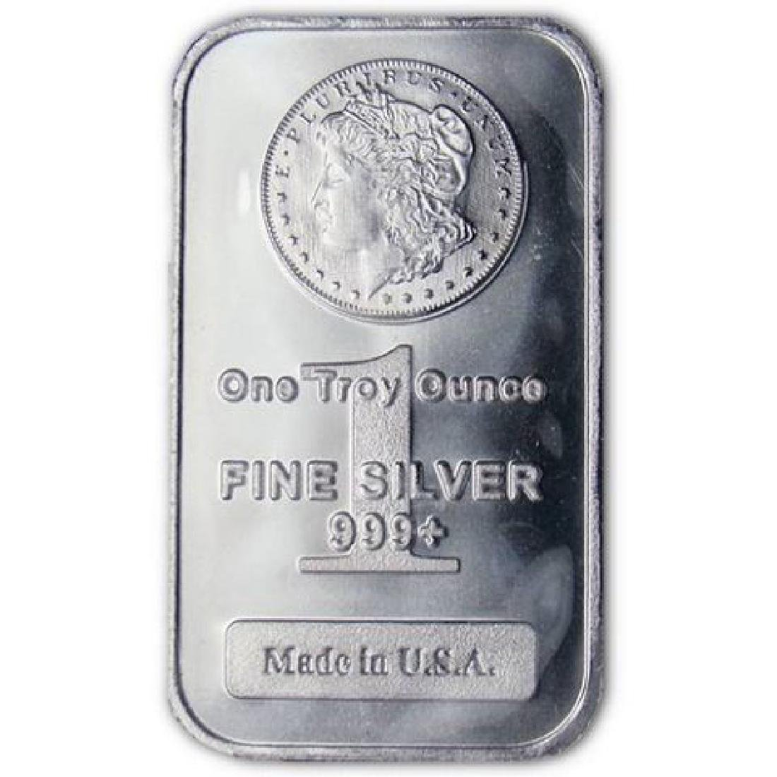 (1) One Ounce Morgan Design Silver Bar